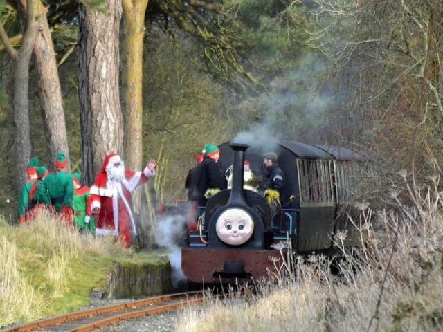 Santa trains at Glan Llyn Flag Halt
