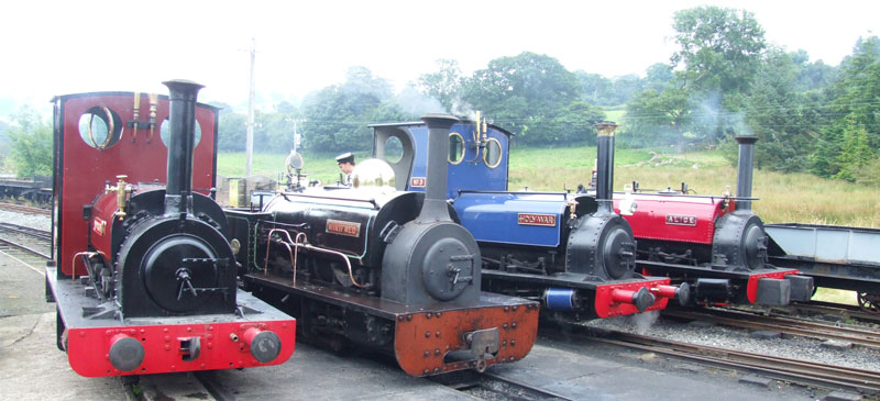 Winifred at her new home on the Bala Lake Railway