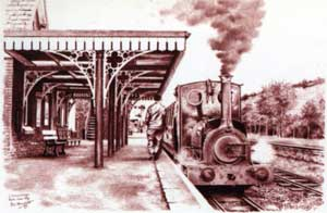 Llanuwchllyn station drawing