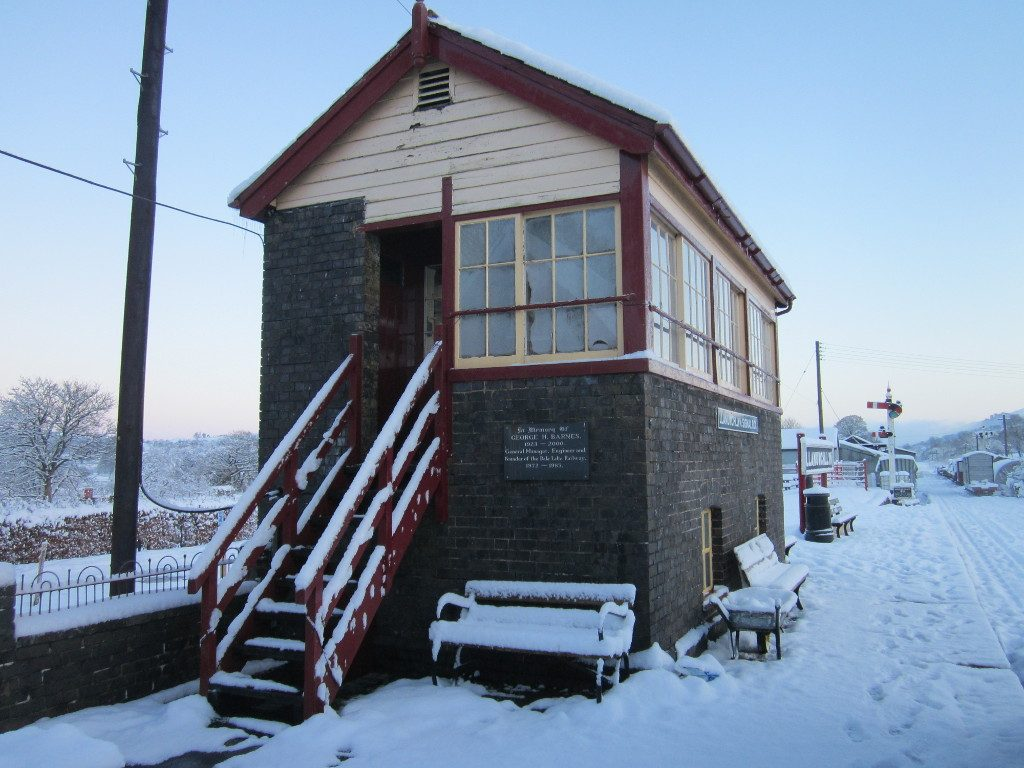 The signalbox in the snow