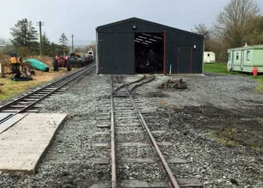 New trackwork at Llanuwchllyn