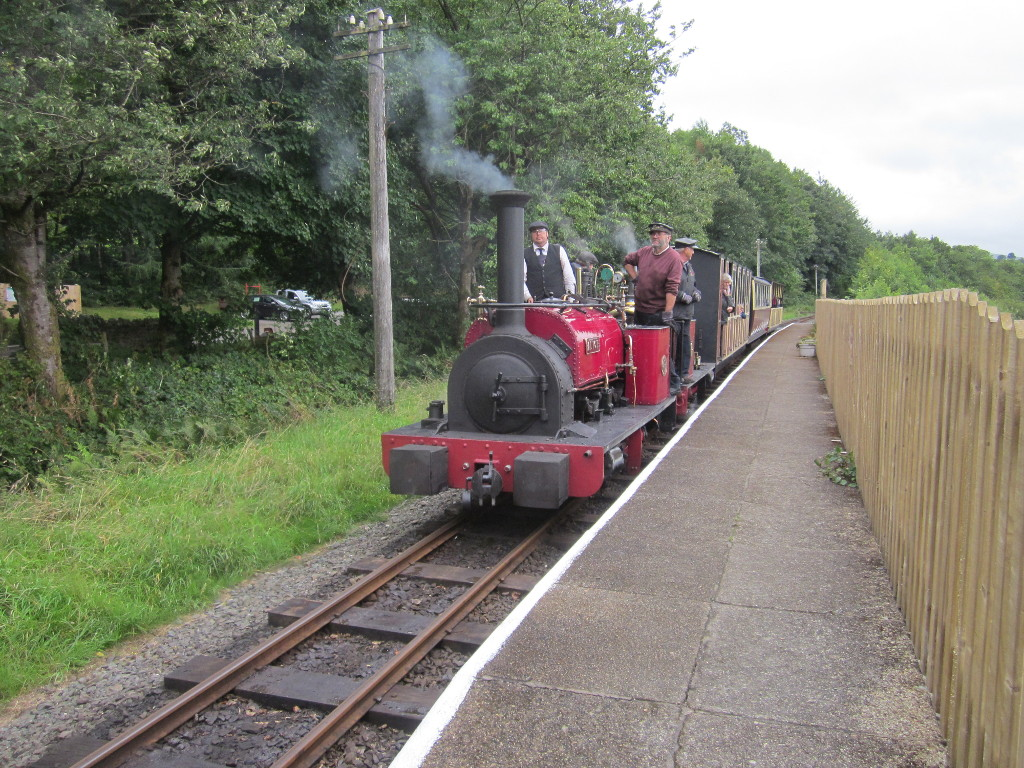 The platform at Llangower, with Alice and George B arriving on a gala day