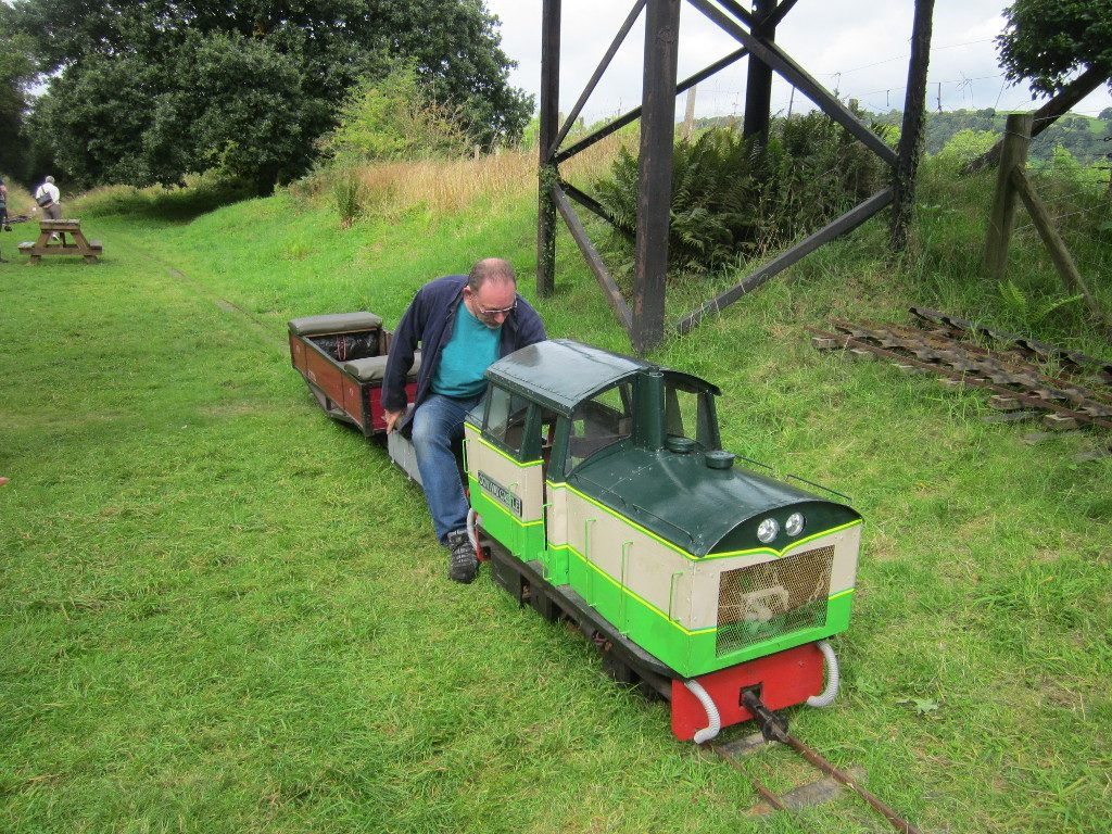 Minature train at Bala Pen-Y-Bont