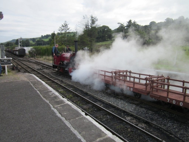 Alice departs with the Dinorwig slate train