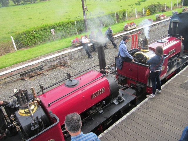 Alice and George B getting ready to depart from Llanuwchllyn