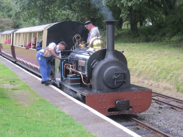 Winifred with a passenger train at Bala Pen-Y-Bont