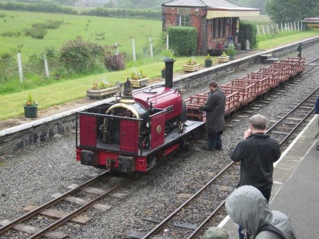 George B with the Dinorwig slate wagons at Llanuwchllyn