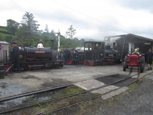 Raising steam for the Penrhyn only day