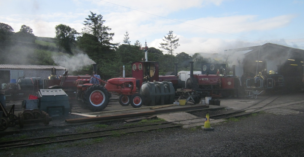 Raising steam at the engine shed