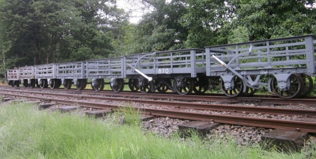 Slate wagons at Llangower