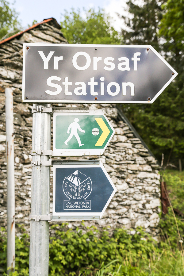 Bala Pen-Y-Bont station signpost