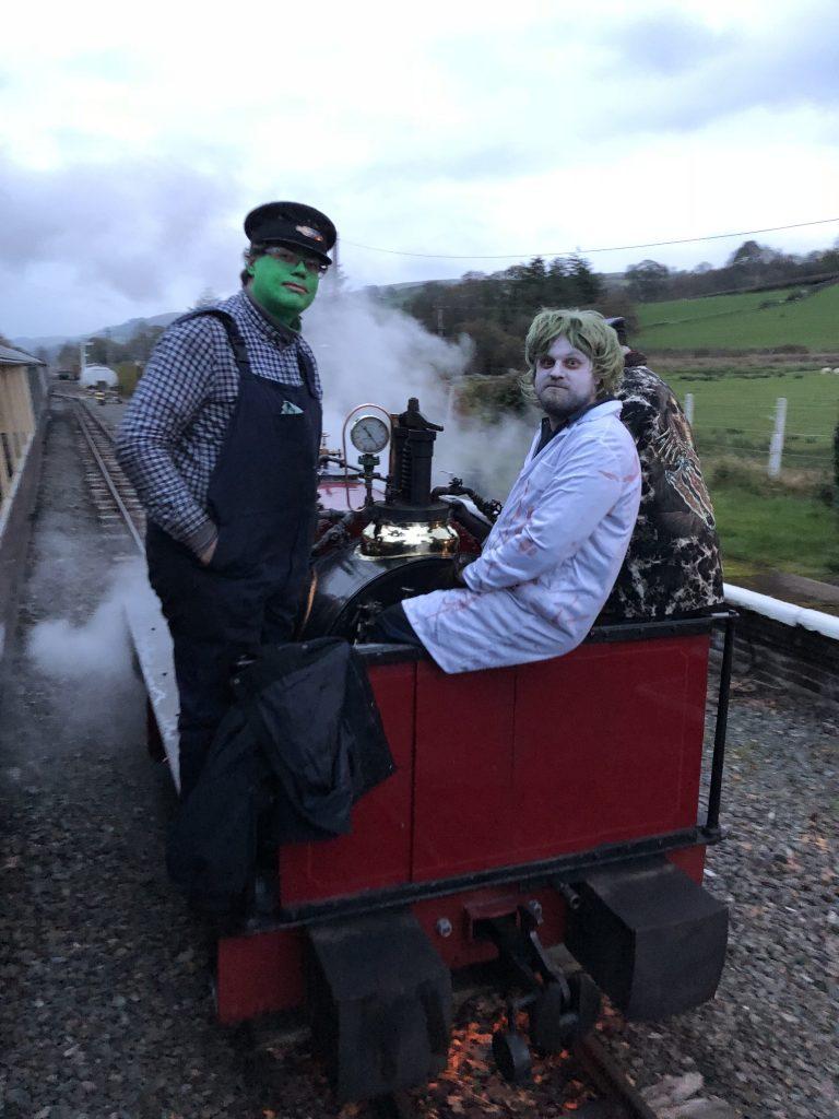 Ghoulish loco crew