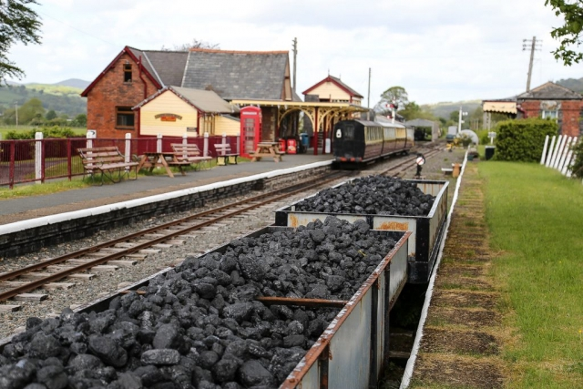 Coal wagons at Llanuwchllyn station