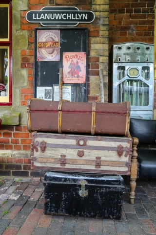 Old Luggage at Llanuwchllyn Station