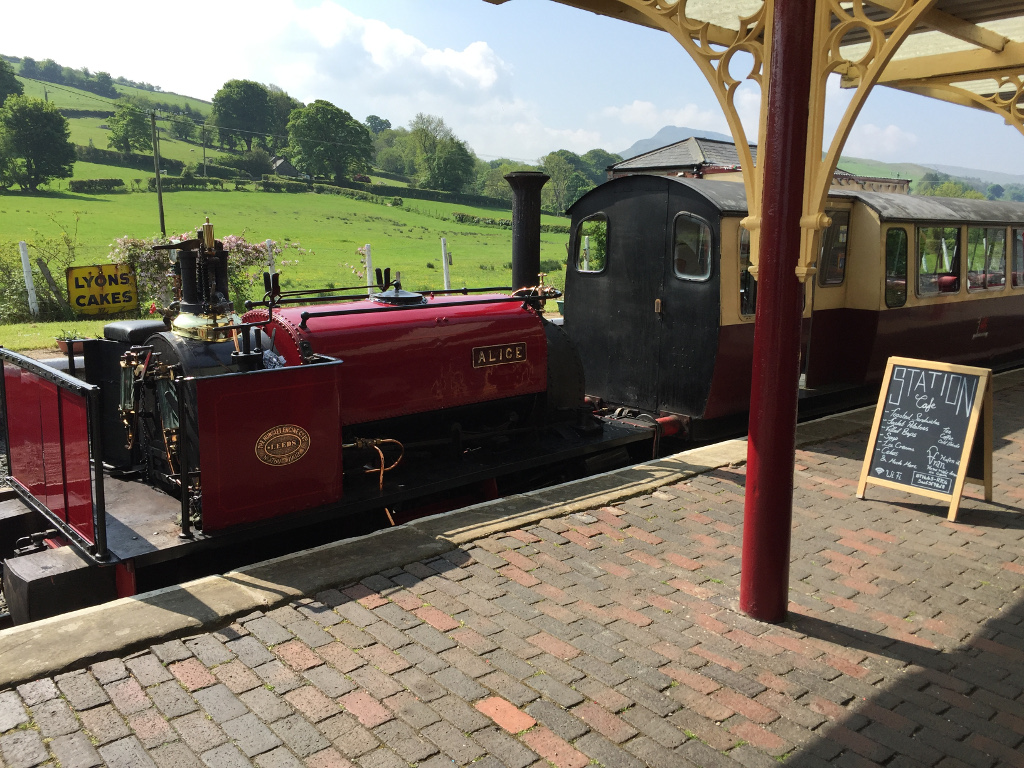 Alice at Llanuwchllyn station