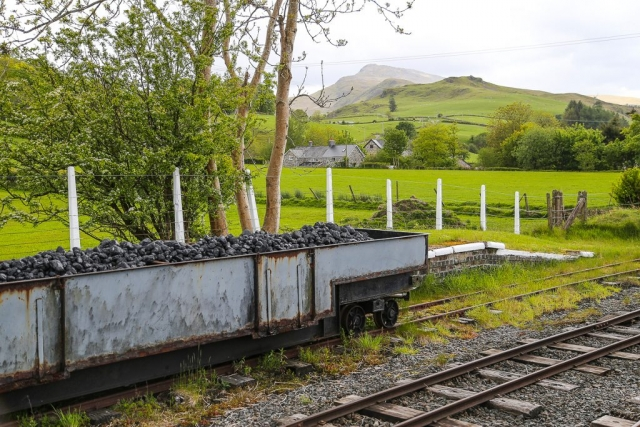 Aran Benllyn and the coal wagons