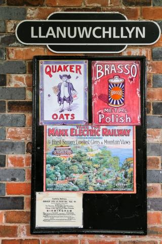 Llanuwchllyn station posters
