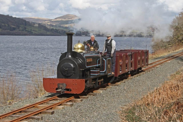 Winifred with the Penrhyn Workmans Train