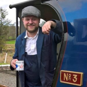 Volunteer James Priestly on the footplate