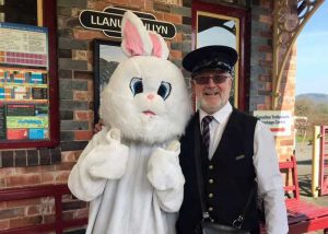 The Easter Bunny ready to welcome visitors