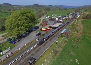 Llanuwchllyn Station on Easter Sunday