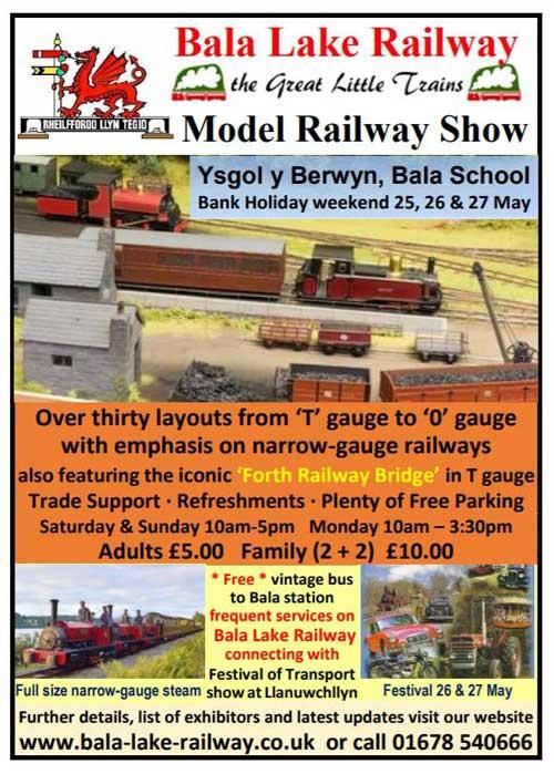 Model Show and Festival of Transport – Bala Lake Railway