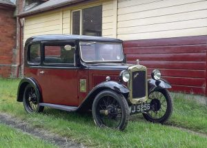 Austin 7 at Llanuwchllyn station