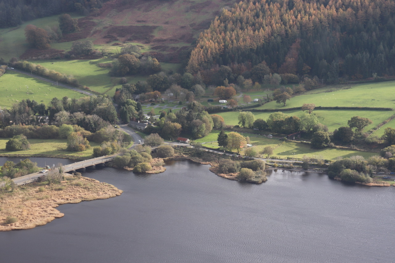 Bala Lake Railway extension from the air