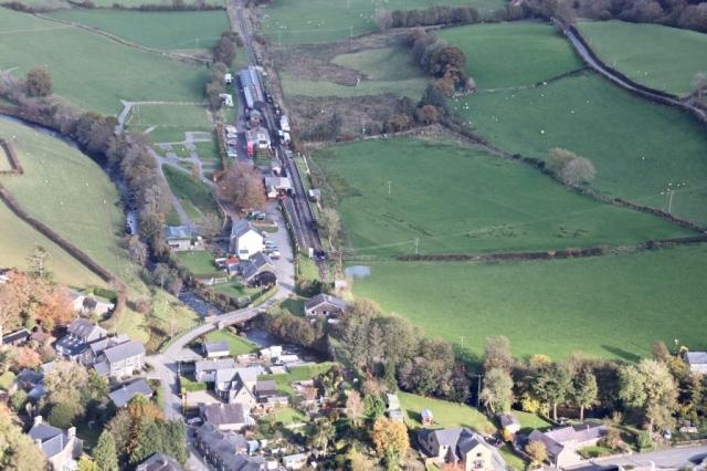 Llanuwchllyn station from the air