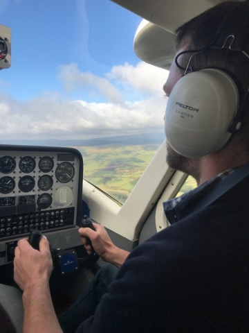 Rob Houghton at the controls