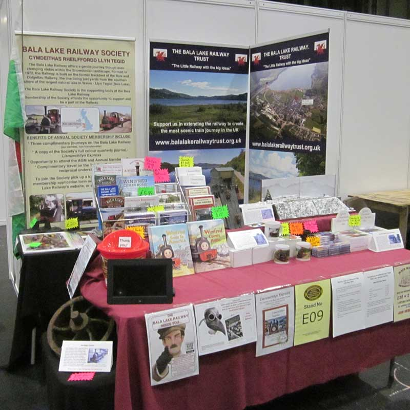 Bala Lake Railway stand at the Warley Show