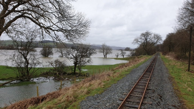 Flooded fields beside Bala Lake