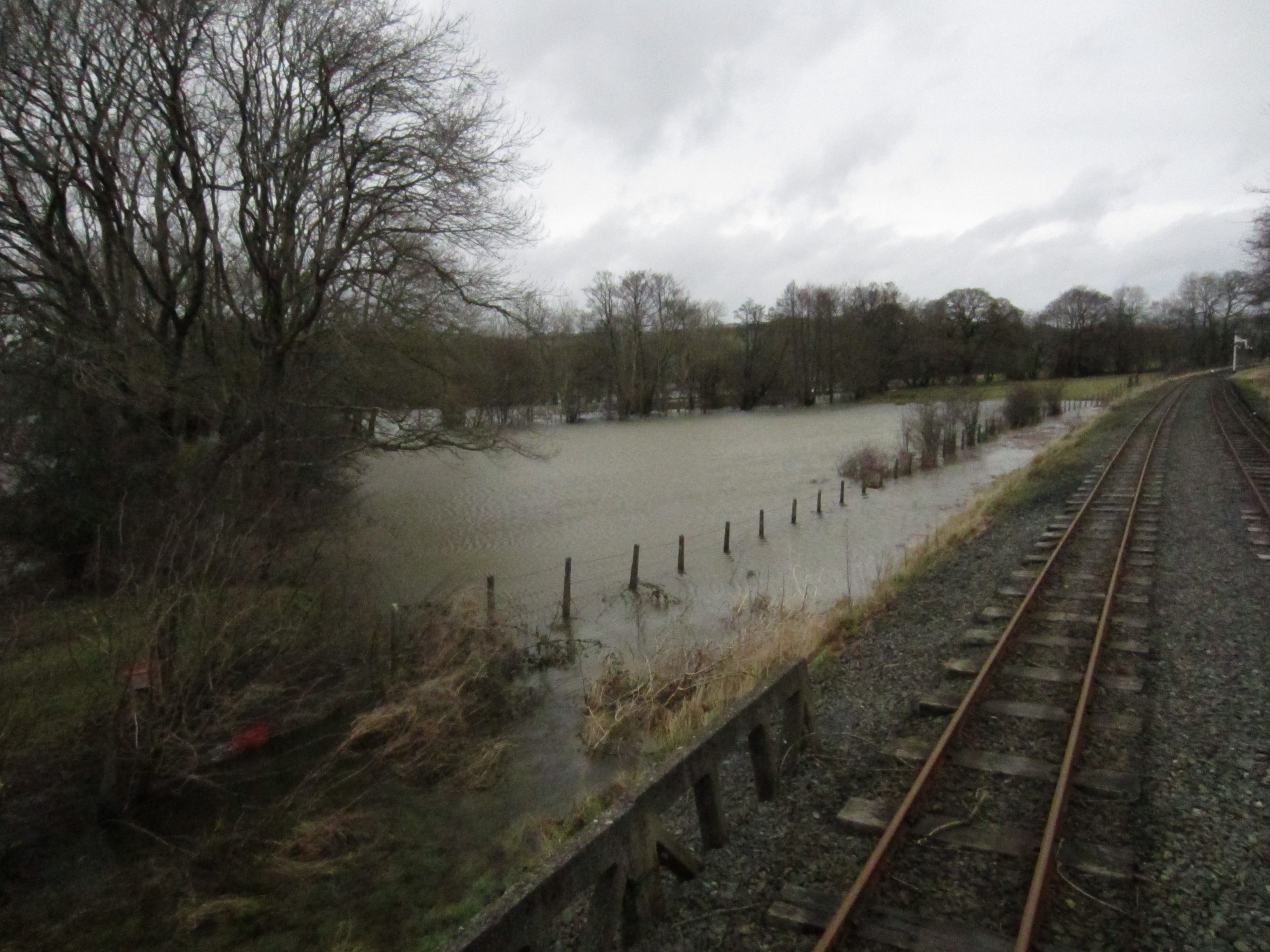 Flooding at Llangower