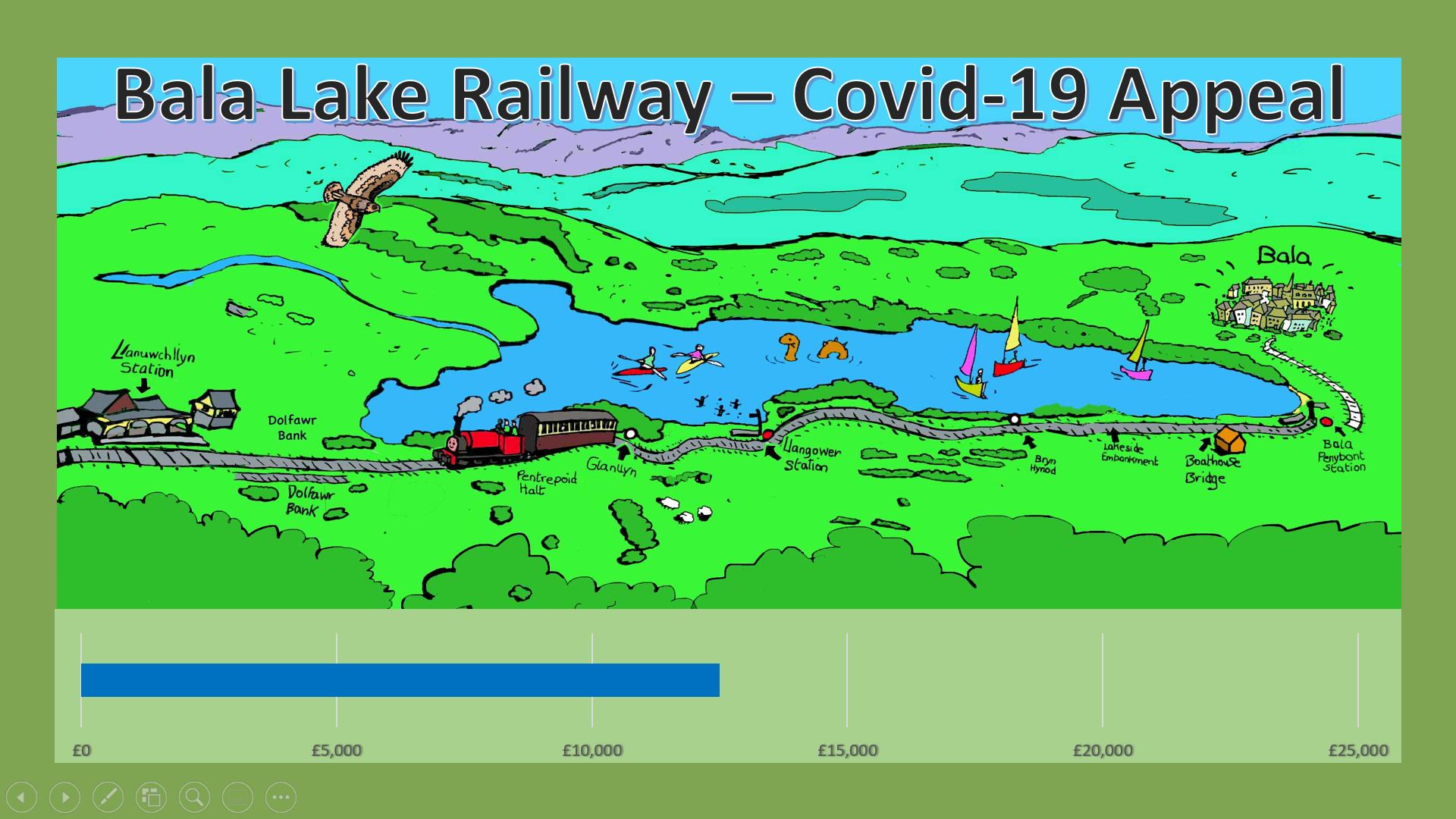 Appeal progress chart at £12500