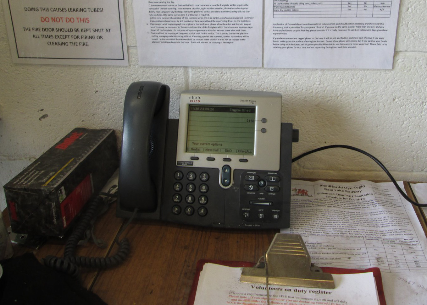 New Engne Shed phone
