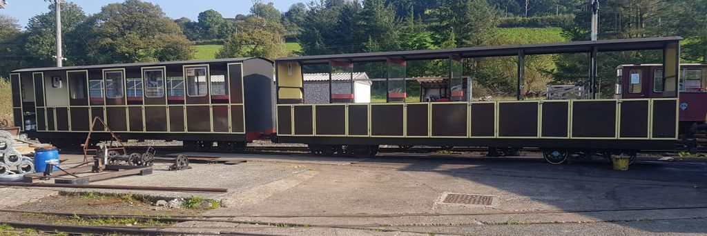 Refurbished Coaches at Llanuwchllyn