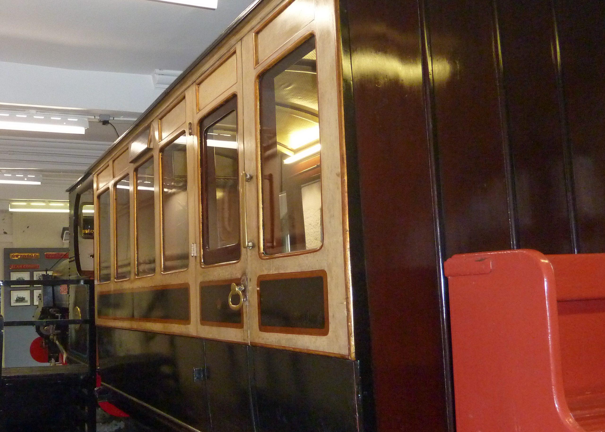 Penrhyn Quarry Railway coach in Penrhyn Castle Museum