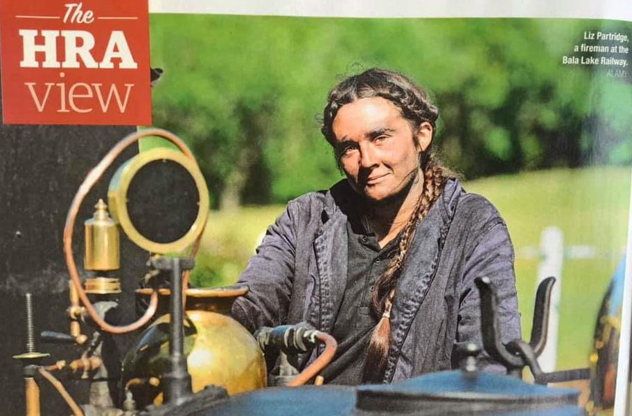 Liz Partridge in Steam Railway Magazine