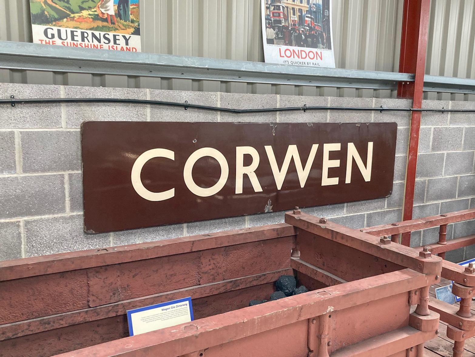 Corwen Station Sign
