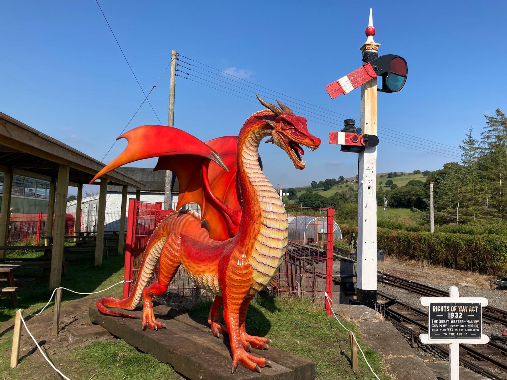 Dai the Dragon at Llanuwchllyn